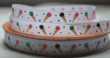 10mm ICE-REAM CONE & CONFETTI GROSGRAIN RIBBONS
